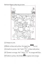English worksheet: Backyardigans Colouring Picture