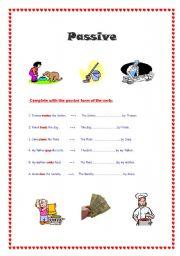 English worksheet: passive voice.  present simple