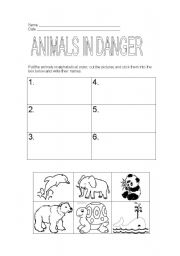 English Worksheets: ANIMALS IN DANGER 2