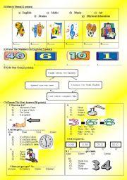 English Worksheet: 2011 4th grade 2nd term 1st exam