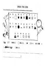 English Worksheets: Break The -code