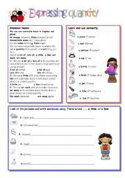 English Worksheets: Expressing quantity