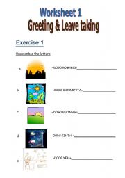 Exercise Greeting Amp Leave Taking