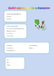 English Worksheets: useful expressions for a conversation