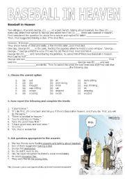 English worksheet: Baseball in Heaven