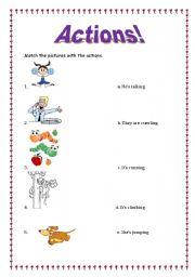English Worksheets: Actions!