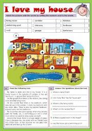 English Worksheet: I love my house (reuploaded)