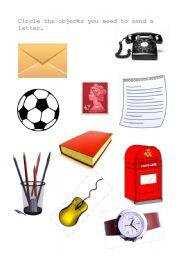 English Worksheets: Sending a letter