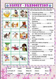 English Worksheets: Disney - Preposition