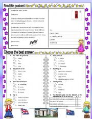 English Worksheet: Postcard