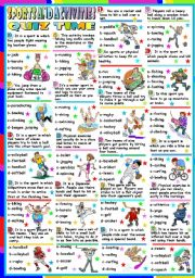 English Worksheet: SPORTS AND ACTIVITIES - QUIZ (KEY INCLUDED)