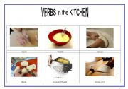 English Worksheet: verbs in the kitchen