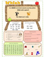English Worksheets: which