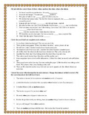 English Worksheet: OTHER, ANOTHER, THE OTHER, OTHERS AND THE OTHERS