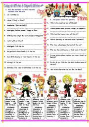 English Worksheets: Comparatives & Superlatives with Long, Short & Irregular Adjectives & One Piece. Key Included.