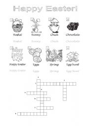 English Worksheet: Crossword Easter