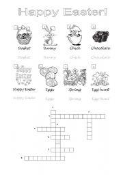 English Worksheet: Crossword Easter