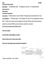 English worksheets APOLLO 13