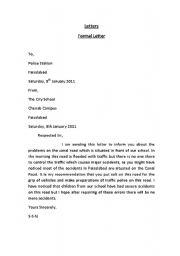 English Worksheets: Letter Formats