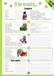 English Worksheet: A FAR COUNTRY - WRITING