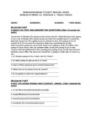 Worksheet 10th Grade Printable Worksheets english teaching worksheets 10th grade 1 exam