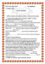 English Worksheet: let´s review (1st term) (9th form)