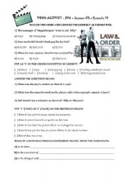 English Worksheet: SVU - Law and Order - Season 09 - Episode 17