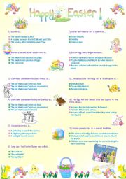 English Worksheet: HAPPY  EASTER !