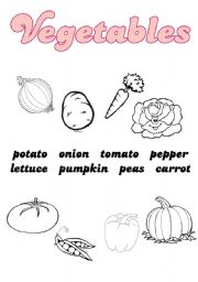 English worksheet: Vegetables vocabulary