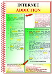 English Worksheets: Internet Addiction