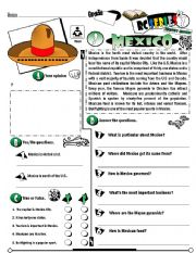 English Worksheet: RC Series_Level 01_Country Edition 03 Mexico (Fully Editable + Key)