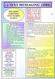 English worksheet: Text Messaging (SMS)