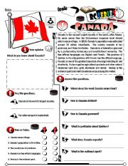 English Worksheet: RC Series_Level 01_Country Edition 01 Canada (Fully Editable)