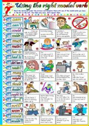 English Worksheets: USING THE RIGHT MODAL VERB - KEY INCLUDED
