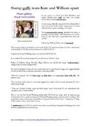 Royal Wedding (Kate Middleton&Prince William): stamp gaffe