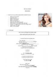 English Worksheet: Who says - Selena Gomez