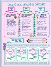 English Worksheets: LONG A  AND SHORT A SOUNDS