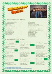 English Worksheets: Song: WHATEVER  by Oasis