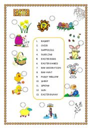 5 pages, plenty of activities for different levels to revise or teach Easter vocabulary
