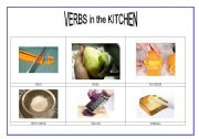 English Worksheet: verbs in the kitchen 2