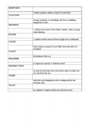 English Worksheets: volcano. test