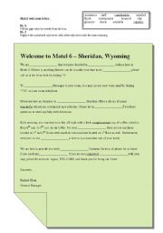 Hotel Welcome letter