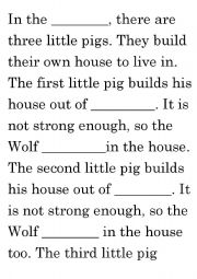 English Worksheets: little pigs