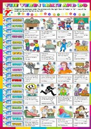 English Worksheets: MAKE OR DO ? (KEY INCLUDED)