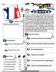 English Worksheet: RC Series_Level 01_Country Edition 04 France
