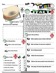 English Worksheet: RC Series_Level 01_Country Edition 05 Italy