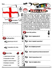 English Worksheet: RC Series_Level 01_Country Edition 06 England