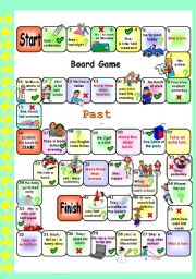 PAST SIMPLE SET 3 . BOARD GAME # regular /irregular verbs # editable