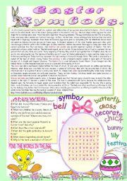 English Worksheets: EASTER SYMBOLS.