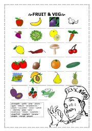 English worksheet: fruit and veg